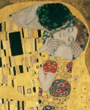 Gustav Klimt. <em>The Kiss</em>, 1907-1908 Oil, silver- and gold plating on canvas