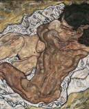 Egon Schiele.<em>The Embrace</em> ( Lovers II), 1917 © Belvedere, Vienna