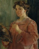 <em>Self-portrait</em> by Lluïsa Vidal, 1899 © MNAC
