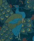 Jūlijs Straume (1874-1970). Pattern sketch for a decorative fabric <em>Peacocks</em>. Detail. 1906. Paper, tempera. Collection of the Latvian National Museum of Art. Photo: Normunds Brasli?š