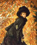 James Tissot. <em>Femme à Paris: la dame d'honneur</em>, ca. 1883-1885. Huile sur toile. Image provided courtesy of the Arts Museums of San Francisco