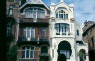 Jules Hofman, 1900. Side by side, the house known as De Zonnebloem and De Tulp on Cogels-Osylei