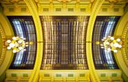 Lipót Baumhorn. Skylight in the festivity room of the Lloyd Palace (1910-1912) at Victoriei Square 2