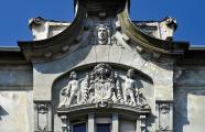 Architect Martin Gemeinhardt. Façade detail of former Iosefin Savings Bank (1906) at Ioan Ghica Street 1 Arch. Mihai Botescu