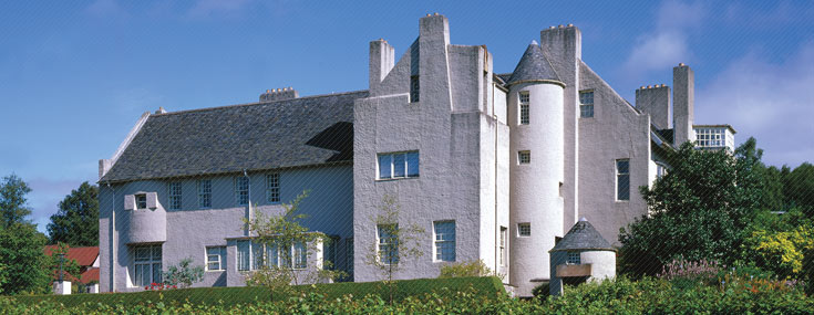 Charles Rennie Mackintosh, 1902-1904. The Hill House, vista desde el sur (© The National Trust for Scotland Photo Library)