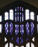 Charles Rennie Mackintosh, 1897.  Mackintosh Curch at Queen´s Cross. The West Window, showing detail of <em>Blue Heart</em> (c) McAteer Photography (2007)